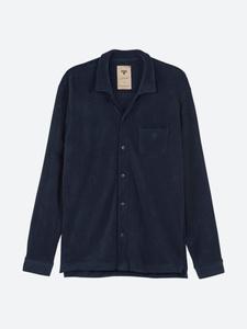 Navy Camisa Frotté-skjorta